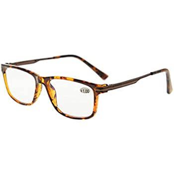 9f5b17ef157 Eyekepper TR90 Frame Metal Spring Arms Noline Bifocal Progressive  Multifocus Glasses 3 Levels Vision Reading Glasses Anti Glare Computer  Readers (Tortoise ...