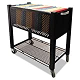 -- InstaCart File Cart, 15w x 28-3/4d x 27-3/4h, Black