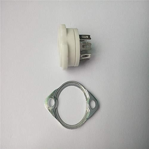 Davitu 20pcs ceramic tube socket seat GZC7-F small 7 pin silver feet for 6J1,6J2,6J3,6J4,6J5,6Z4,EAA91,EC92 by DAVITU (Image #1)