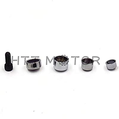HTTMT MT247-001-CD Chrome Bolts Toppers Caps Compatible with 2007 2008 2009 2010 2011 2012 2013 Harley FLT FLH: Automotive