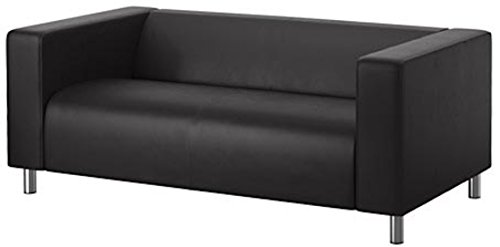 The PU Leather Klippan Loveseat Sofa Cover Replacement Is Custom Made for Ikea Klippan Loveseat Sofa Slipcover. (Durable Leather Black)