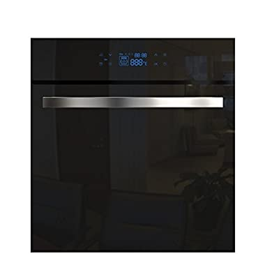 Empava KQC65C-17 Tempered Glass LED Digital Touch Controls Electric Built-in Single Wall Oven 3400W 110V, Black
