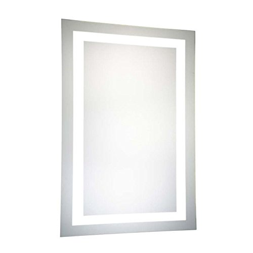 Elegant Bathroom Mirror (Elegant Decor Mre-6004 Dimmable 5000K LED Electric Mirror Rectangle, 24