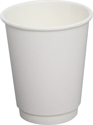 Lollicup C-KIC508W Karat Insulated Paper Hot Cup, 8 oz, White (Case of 500)
