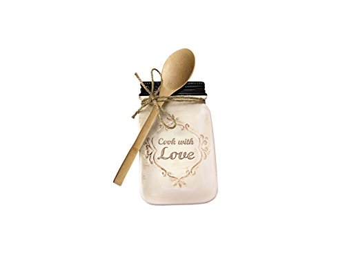 Young's Ceramic Spoon Holder with Spoon, 8