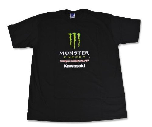 Pro Circuit Team (Monster Energy) Adult Cotton Tee/T-Shirt, Black, Med/MD