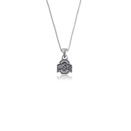 Ohio State University Buckeyes OSU Sterling Silver Jewelry by Dayna Designs (Charm Necklace) (State Necklace University Charm)
