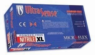 Disposable Gloves, Nitrile, XL, Blue, PK100 by Microflex (Image #1)