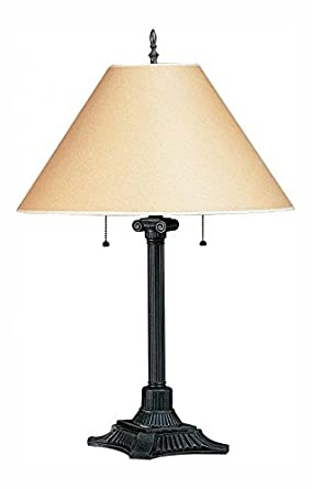 Rust 120 Watt 31in Craftsman Mission Metal Table Lamp With On Off