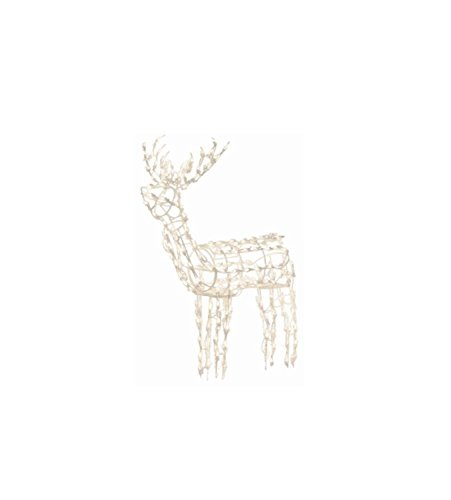 Outdoor Lighted Deer Sculpture - 1