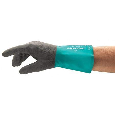 Chemical Resistant Gloves, Nitrile, 8, 12''L- Pack of 5 by ANSELL (Image #1)