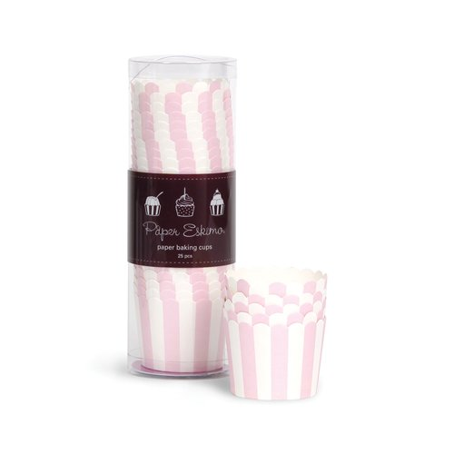 Paper Eskimo Baking Cups, Marshmallow Pink, 25-Pack