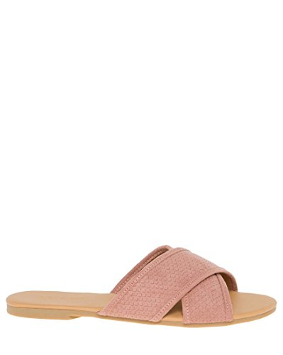 Cross LE Criss Women's TEAU Toe CH Open Blush Slide qxrqPYg1