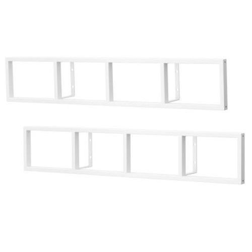 Amazon.com: Wall Floating Shelves White Lerberg Cd DVD Rack Shelf Wall  Mount Metal Steel Material Floating Book Shelves For Living Room 1 Sets Of  2 Pcs: ...