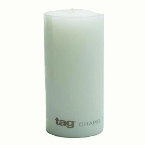 Tag 100064 3-Inch by 6-Inch Unscented Long Burning Pillar Candle, White