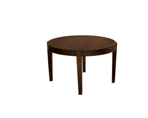 Furniture of America Wenchell Round Dining Table, Walnut Finish For Sale