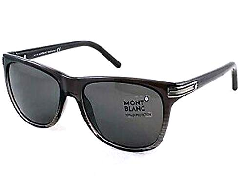 Mont Blanc Men's MB502S Sunglasses, Grey/Smoke ()