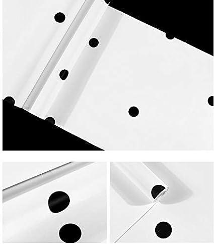 10m K2-B1 Papel pintado de punto blanco y negro geom/étrico minimalista europeo Sala de estar Dormitorio TV Fondo de pantalla 0.53 papel puro