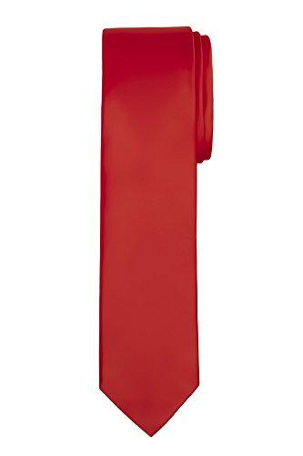 Jacob Alexander Boy's Regular Self Tie Prep Solid Color Necktie - Red (Red Tie Boys)