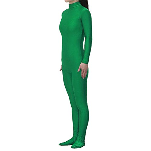 [Muka Adult Lycra Zentai Unitard Bodysuit Halloween Catsuit Dancewear - Green,M] (60s Dress Up Costumes)