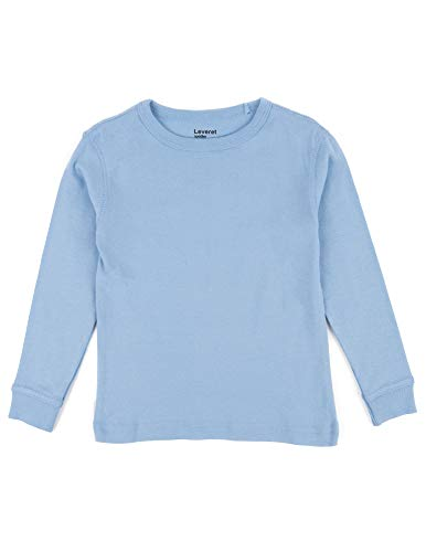 Leveret Long Sleeve Solid T-Shirt 100% Cotton (10 Years, Light ()
