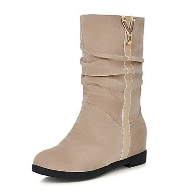 92eae78eb700 Women039 s Shoes Leatherette Winter Comfort Snow Boots Boots Low Heel Round  Toe Mid-