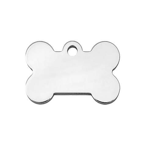 Lobo Commander Chrome Custom Engraved Pet ID Tags For Your Dog Or Cat, Personalized Front And Back, Up To Four Lines Of Text Per Side, Small And Large Sizes Suitable ()