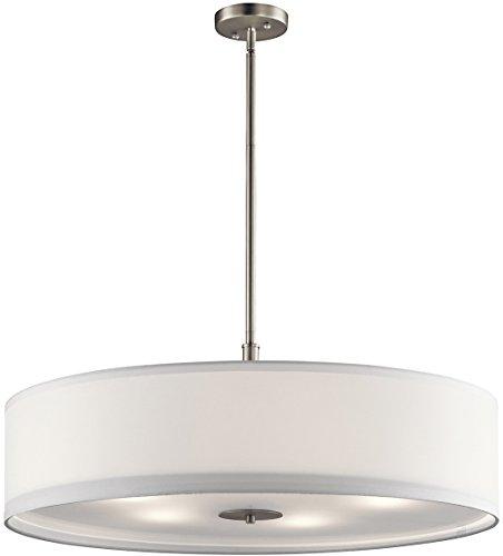 Kichler 42196NI Pendant, 5 Light Incandescent 500 Total Watts, Brushed Nickel