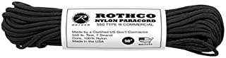 product image for Rothco Type III Commercial Paracord (Black, 550-Pound/50-Feet)