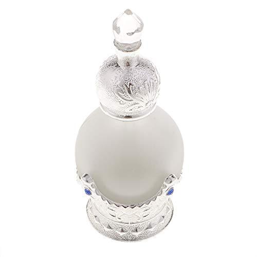 - SM SunniMix Antique Miniature Empty Glass Perfume Storage Bottle Case Box 15ML Crafts Silver