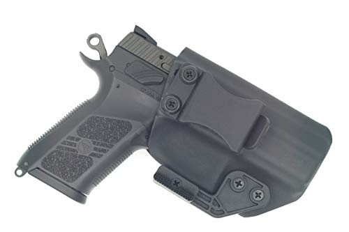 Sunsmith Holster AIWB Series - Compatible with CZ P07 Kydex Appendix Inside Waistband Concealed Carry Holster Made in USA by Fast Draw USA (Black - Right Hand)