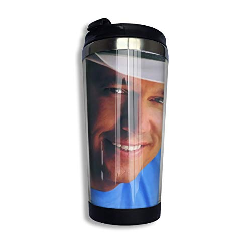 Laura J Woods George Strait One Step at A Time Stainless Steel Coffee Cup - George Strait Coffee