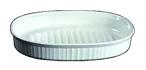 Corning Ware French White Oblong Roaster / No Lid ( 12 1/2 inch - 2 1/2 Quart w/ Rack ) ( F-4-B )