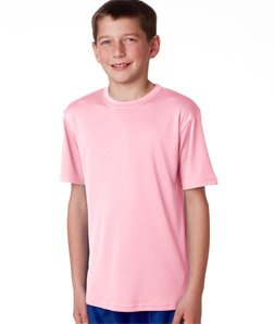 (Champion Youth Moisture Management T-Shirt in Cashmere Pink - X-Large)