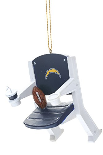 Team Sports America NFL San Diego Chargers Stadium Chair Ornament, Small, Multicolor