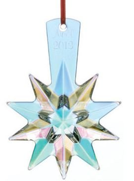 Baccarat #2804703, 2013 Annual Ornament Christmas Star Iridescent (Ornament Baccarat Christmas)