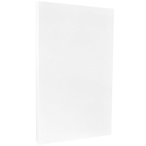JAM PAPER Glossy Legal 32lb 2-Sided Paper - 8.5 x 14 - White - 100 Sheets/Pack