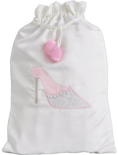 Pink Lace Shoe Bag - Trousseau Lace