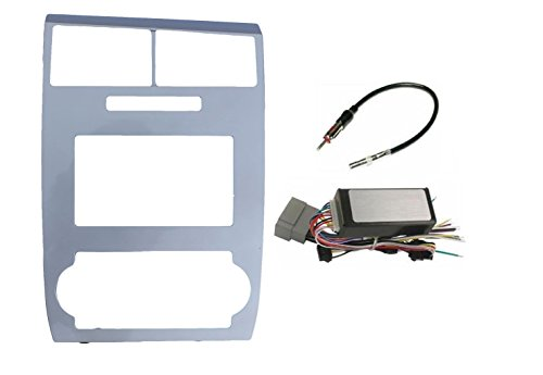 - Dodge Charger 2006 2007 Dodge Magnum 2005 2006 2007 Radio Stereo Car Install Double Din Navigation Silver Bezel + CAN-BUS Premium Systems Radio Replacement Steering Wheel Interface Harness & Antenna Adapter