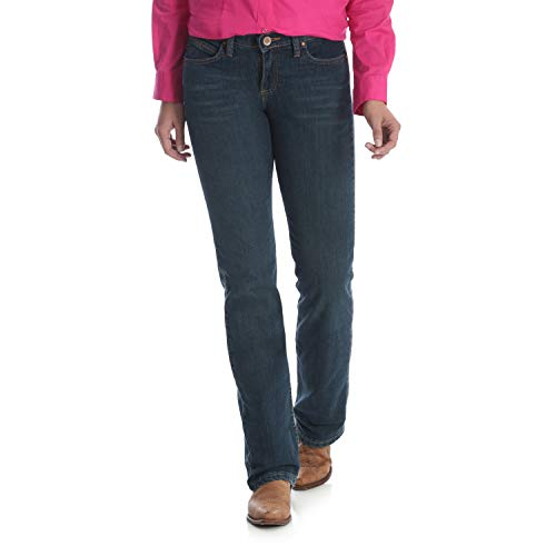 Wrangler Women's Q-Baby Mid Rise Boot Cut Ultimate Riding Jean, Tuff Buck, ()