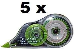 Cinta correctora bismark 12 metros * 5 m/m (5 unidades)