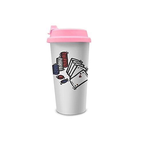 Travel Coffee Mug Take Gambling Life Play Game Poker Double