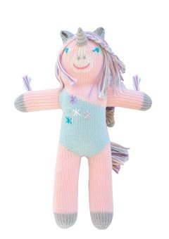 (Blabla Confetti The Unicorn Mini Plush Doll - Knit Stuffed Animal for Kids. Cute, Cuddly & Soft Cotton Toy. Perfect, Forever Cherished. Eco-Friendly. Certified Safe & Non-Toxic.)