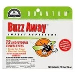Extreme Towelettes - Quantum Extreme Buzz Away Towelette - 12 per Pack - 6 Packs per case.