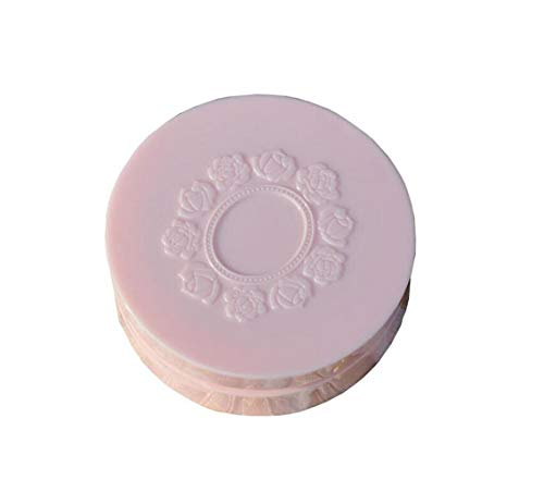 1PCS 10gram Refillable Make-up Loose Powder Puff Case Container DIY Make Up Foundation Cosmetic Storage Travel Box With Embossed Flower Lid Soft Sponge Puff Mirror And Sifter For Women - Shade Ideal Powder Loose