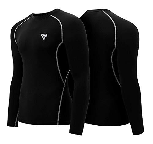 RDX Rash Guard Compression Base Layer MMA Training Sparring Running Cycling Sauna Suit Boxing Thermal Shirt Top Sweatshirts Workouts ()
