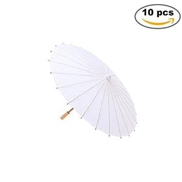 Lote de 10 Parasoles Papel Bambú Bodas - Sombrillas Chinas Baratas Amazon Dónde Comprar (Envío