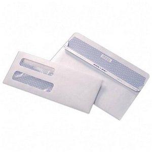 500#10 Double Window Flip & Seal White Security Envelopes - 9'' 3/8 X 4'' 1/8 by Compuchecks
