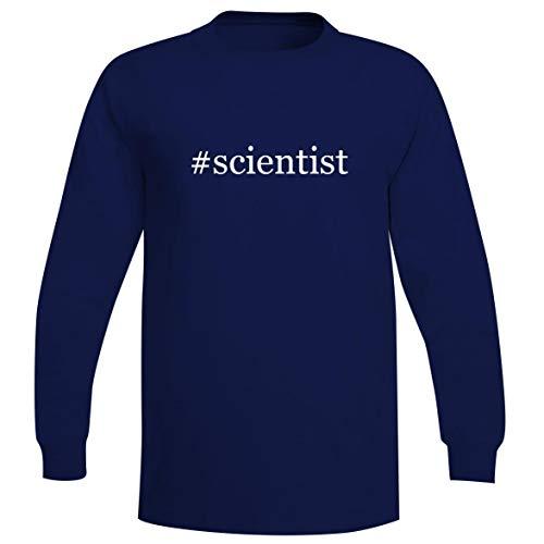 - The Town Butler #Scientist - A Soft & Comfortable Hashtag Men's Long Sleeve T-Shirt, Blue, Medium