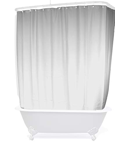 Shower Curtain for a Clawfoot Tub/White with Magnets 180